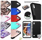 LG X Style Tribute HD L53B L56VL Shockproof Hybrid Rubber Protective Case Cover