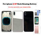 For lPhone X  Back Rear Frame Motherboard Housing Back Battery Door With Logo