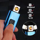 Rechargeable USB Windproof Flameless Electric Charge No Gas Windproof Lighter