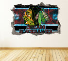 Chicago Blackhawks Wall Art Decal Hockey Team 3D Smashed Wall Decor WL15 $24.95 USD on eBay