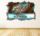 Detroit Red Wings Wall Art Decal Hockey Team 3D Smashed Wall Decor WL21 $48.95 USD on eBay