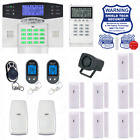 Wireless House Alarm Kit Security System Voice Prompt Backlit Screen US Plug CC