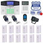 Wireless House Alarm Kit Security System Voice Prompt Backlit Screen US Plug BL