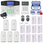 Wireless House Alarm Kit Security System Voice Prompt Backlit Screen US Plug AD