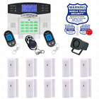 Wireless House Alarm Kit Security System Voice Prompt Backlit Screen US Plug BE