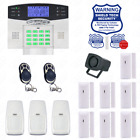Wireless House Alarm Kit Security System Voice Prompt Backlit Screen US Plug AZ