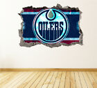 Edmonton Oilers Wall Art Decal Hockey Team 3D Smashed Wall Decor WL23 $36.95 USD on eBay