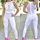 Colombian Brazilian Women's Jumpsuit Enterizo Supplex Mesh S M Gym Workout