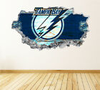 Tampa Bay Lightning Wall Art Decal Hockey Team 3D Smashed Wall Decor WL43 $24.95 USD on eBay