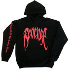 REVENGE 'KILL' HOODIE TOP- MENS Black Red Print - XXXTentacion Bad Vibes Forever