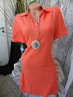 Sheego Polo Dress Dress Long Top Size 42 - 50 Coral Tone (348) New