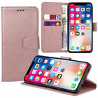 2018 PU Leather Wallet Book Pouch Card Slots Cover For iPhone 5 TO XS MAX /XR/XS