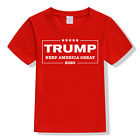Donald Trump 2020 Keep America Great T Shirt Black Red - KIDS SIZE [READ DESC.] image