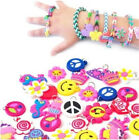 200Pcs Charms for Rainbow Loom Rubber Bands DIY Bracelet Making Craft with Rings