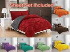 Down Alternative Comforter Set 7 PC Reversible ALL Season Bed In a Bag W Sheets