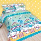 Sanrio Cinnamoroll Fitted Sheet and Pillow Cases Bedding White Dog Cafe Tea Time
