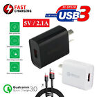 Universal Qualcomm QC 3.0 Certified 5V 2.1A Fast Charging Wall Charger Adapter