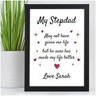 Personalised Gifts for STEP DAD - Christmas Step Dad Stepdad Gifts Presents