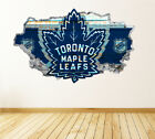 Toronto Maple Leafs Wall Art Decal Hockey Team 3D Smashed Wall Decor WL45 $48.95 USD on eBay