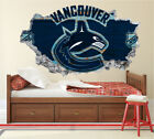 Vancouver Canucks Wall Art Decal Hockey Team 3D Smashed Wall Decor WL47 $36.95 USD on eBay