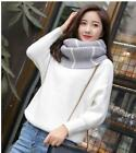Fashion Trend Scarf For Men And Women Students Stripped Wool Collar Set Winter