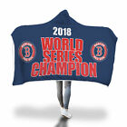 NEW BOSTON RED SOX 2018 WORLD SERIES CHAMPIONS Hooded Blanket 80x53 inch on Ebay