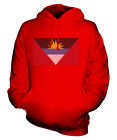 ANTIGUA AND BARBUDA SCRIBBLE FLAG UNISEX HOODIE TOP GIFT ANTIGUAN BARBUDAN