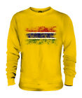 GAMBIA DISTRESSED FLAG UNISEX SWEATER TOP GAMBIAN SHIRT FOOTBALL JERSEY GIFT