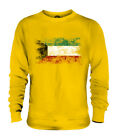 KUWAIT DISTRESSED FLAG UNISEX SWEATER TOP AL-KUWAYT FOOTBALL KUWAITI GIFT SHIRT
