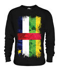 CENTRAL AFRICAN REPUBLIC GRUNGE FLAG UNISEX SWEATER RÉPUBLIQUE CENTRAFRICAINE