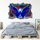Washington Capitals Wall Art Decal Hockey Team 3D Smashed Wall Decor WL63 $48.95 USD on eBay