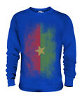 BURKINA FASO FADED FLAG UNISEX SWEATER TOP BURKINABÈ FOOTBALL BURKINABÉ GIFT