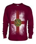 ALDERNEY FADED FLAG UNISEX SWEATER TOP FOOTBALL GIFT SHIRT CLOTHING JERSEY image
