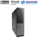 "Dell Desktop Computer PC Tower Intel Windows 10 WIFI Dual LCD Monitor 17""/19"""