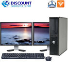 "Купить Dell Desktop Computer PC Intel Windows 10 Pro WIFI DVD Dual LCD Monitor 17""/19"""