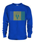 SAINT VINCENTS AND THE GRENADINES SCRIBBLE FLAG UNISEX SWEATER  TOP GIFT