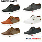 BRUNO MARC Mens Mesh Leather Sneakers Casual Shoes Slip On Lace Up Waking Shoes