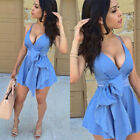 Womens Bandage Bodycon Sleeveless Evening Party Cocktail Club Short Mini Dresses