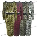 Womens Ladies Fendi Print Knitted Co-Ord Two Piece Cropped Top Skirt Dress Suit