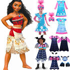 Princess Dress Vampirina Trolls Moana Costume Girls Cosplay Party Fancy Dress Up image