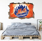 New York Mets Wall Art Decal MLB Baseball Team 3D Smashed Wall Decor WL77 on Ebay