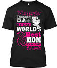 Massage Therapist By Day, Mom Night! - Day World's Hanes Tagless Tee T-Shirt