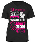 Massage Therapist By Day, Mom Night! - Day World's Best Premium Jersey V-Neck