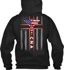 Cna Work Wear Usa Flag Gildan Hoodie Sweatshirt