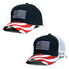 USA American Flag hat Stars and Stripes Embroidered Flag bill Baseball cap