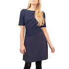New REISS ZILA Navy Blue Textured Stylish Fit/Flare Any Occasion Dress Save £140