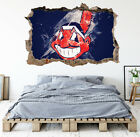 Cleveland Indians Wall Art Decal MLB Baseball Team 3D Smashed Wall Decor WL89 on Ebay