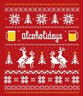 Christmas T-shirt Unisex Ugly Sweater Novelty Funny : Reindeer Alcoholidays