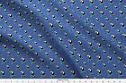 Toucan Bird Jungle Floral Flowers Dot Blue Fabric Printed by Spoonflower BTY