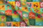 Picnic Playground Games Blocks Fabric Printed by Spoonflower BTY
